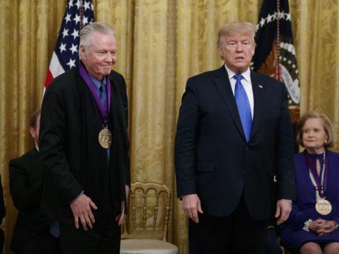 President Donald Trump and Jon Voight (AP/Alex Brandon)