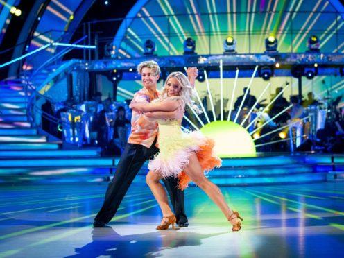 AJ Pritchard and Saffron Barker (Guy Levy/BBC)