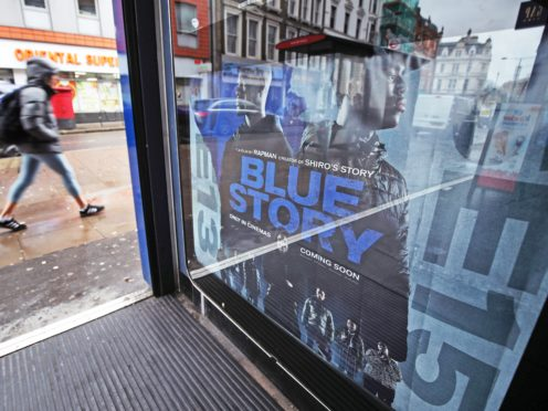 A poster advertising the film Blue Story at an Odeon cinema in London (Yui Mok/PA)