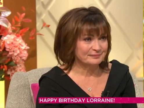 Lorraine Kelly weeps as she receives special honour to mark her 60th birthday (ITV/Lorraine)