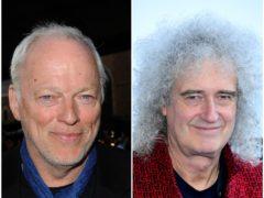 David Gilmour and Brian May (PA)