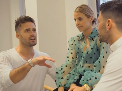 Giovanni Pernice helped Vogue Williams and Spencer Matthews with their wedding dance (E4)