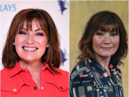 Lorraine Kelly and the portrait (Ian West/University of Dundee/PA)