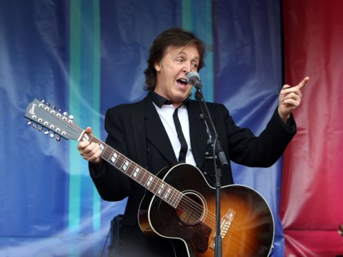 Sir Paul McCartney has revealed he recorded a 'secret' Christmas album that only his family has ever listened to (Steve Parsons/PA)