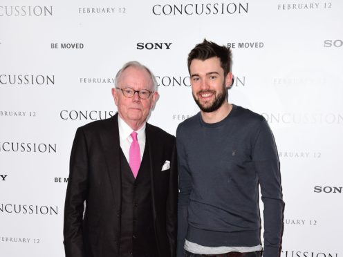 Jack Whitehall and his father Michael (Ian West/PA)