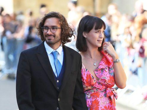Joe Wicks and his wife Rosie (Peter Byrne/PA)