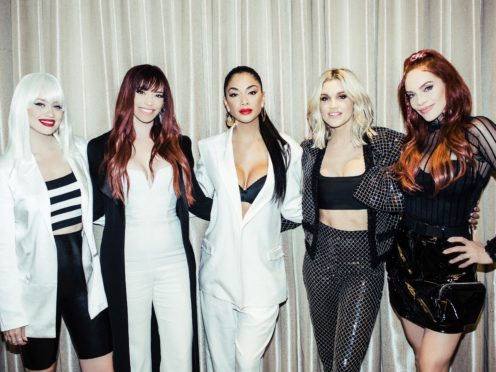 The Pussycat Dolls (left to right) Kimberly Wyatt, Jessica Sutta, Nicole Scherzinger, Ashley Roberts and Carmit Bachar (Live Nation)