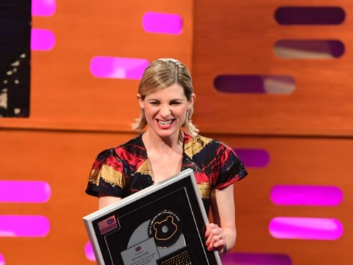 Jodie Whittaker during filming for the Graham Norton Show (SoTV/PA)