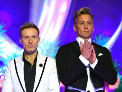 Ian H Watkins (left) and Matt Evers at the launch of Dancing On Ice 2020 (Ian West/PA)