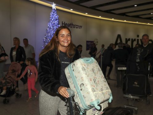 I'm A Celebrity … Get Me Out Of Here! winner Jacqueline Jossa arrives back at Heathrow Airport (Steve Parsons/PA)
