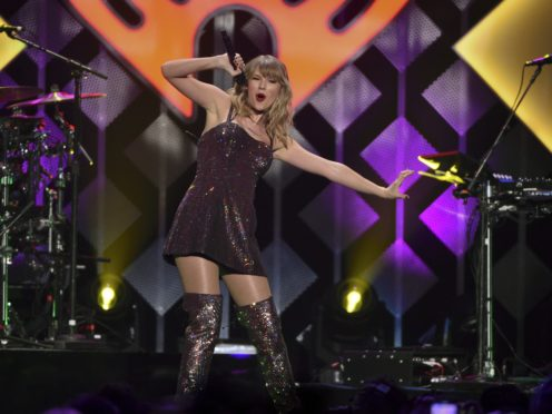 Taylor Swift performed at the Jingle Ball in Madison Square Garden (Evan Agostini/AP)