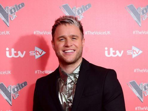 Olly Murs sports a new hair-do with pale frosted tips instead of his usual brown locks (Ian West/PA)