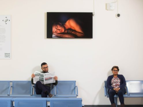 A film portrait of David Beckham by Sam Taylor-Johnson is unveiled in its temporary new home at Whipps Cross Hospital, east London (National Portrait Gallery/PA)