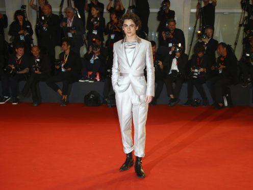 Timothee Chalamet at Venice Film Festival (Joel C Ryan/AP)