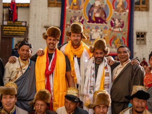 Paddy McGuinness, Andrew 'Freddie' Flintoff and Chris Harris in Nepal (BBC Studios/Lee Brimble/PA)
