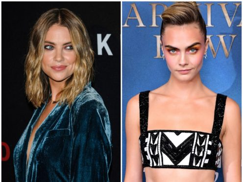 Ashley Benson and Cara Delevingne (Christopher Smith/Invision/AP and Ian West/PA)