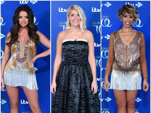 Holly Willoughby, Maura Higgins and Trisha Goddard (Ian West/PA)
