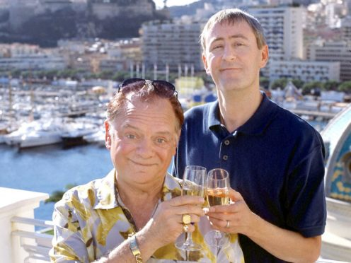 David Jason and Nicholas Lyndhurst in a scene from Only Fools And Horses in 2001 (PA)