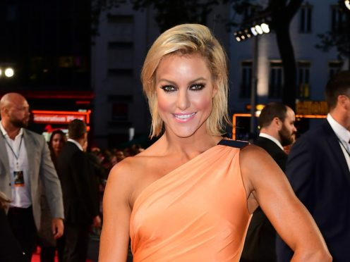 Natalie Lowe had son Jack on December 7 with husband James Knibbs (Ian West/PA)