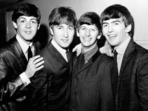 Paul McCartney, John Lennon, Ringo Starr and George Harrison in the Beatles (PA)
