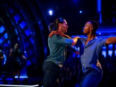 Johannes Radebe and Graziano Di Prima make history with its first individual same-sex dance (Guy Levy/BBC/PA)