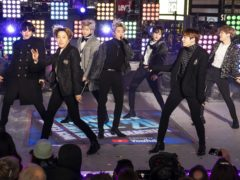 BTS perform at the Times Square New Year's Eve (Ben Hider/Invision/AP)
