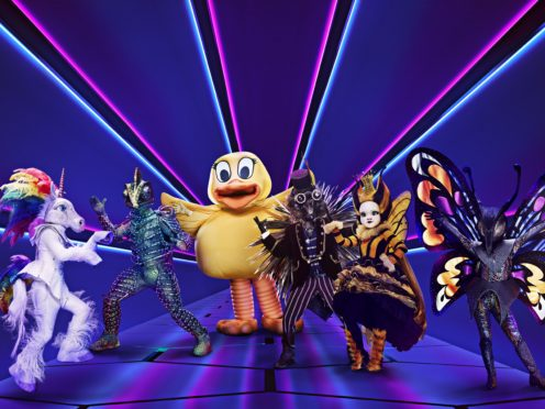 Unicorn, Chameleon, Duck, Hedgehog, Queen Bee and Butterfly from The Masked Singer (Vincent Dolman/ITV/PA)