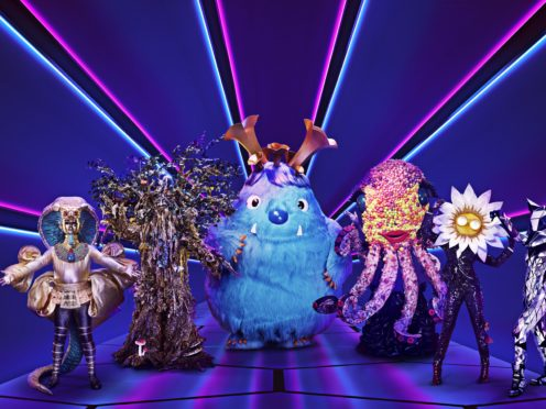 Pharaoh, Tree, Monster, Octopus, Daisy and Fox from The Masked Singer (Vincent Dolman/ITV)