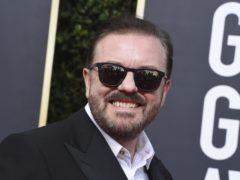 Ricky Gervais arrives at the 77th annual Golden Globe Awards (Jordan Strauss/AP)