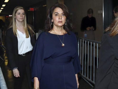 Actress Annabella Sciorra arrives at Harvey Weinstein's rape trial (Richard Drew?AP)