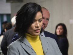 Witness Tarale Wulff arrives at the Harvey Weinstein rape trial (AP/Bebeto Matthews)