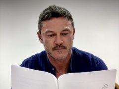 Luke Evans reads the script for The Pembrokeshire Murders (ITV/PA)
