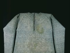 Knitted pale green silk vest or waistcoat said to have been worn by Charles I at his execution (Museum Of London/PA)