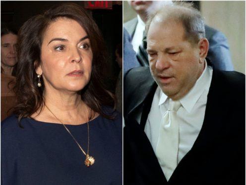 Annabella Sciorra and Harvey Weinstein (Richard Drew/AP)