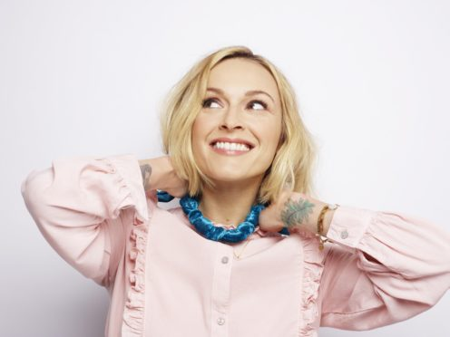 Fearne Cotton with a fabric necklace (Rankin/PA)