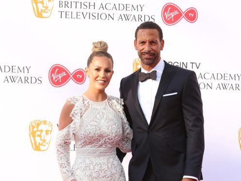 Rio Ferdinand and Kate Wright (Isabel Infantes/PA)