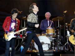 Ronnie Wood, Mick Jagger, Charlie Watts and Keith Richards of the Rolling Stones during their gig at the Murrayfield Stadium in Edinburgh, Scotland (Jane Barlow/PA)
