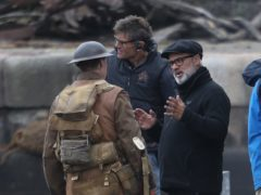 Director Sam Mendes with actor George Mackay (Andrew Milligan/PA)