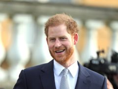 The pretend exchange was shared from the Sussex Royal Instagram account (Yui Mok/PA)