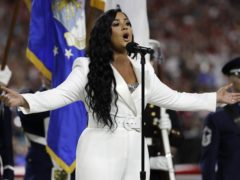 Demi Lovato continued her comeback with a well-received performance of the US national anthem during the Super Bowl (AP Photo/Seth Wenig)