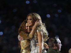 Celebrities including Lady Gaga and Kim Kardashian West have heaped praise on Shakira and Jennifer Lopez's electric Super Bowl half-time show (AP Photo/Lynne Sladky)