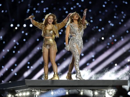 Shakira and Jennifer Lopez delivered a colourful display of Latin pride during their much-anticipated Super Bowl half-time show (AP Photo/Seth Wenig)