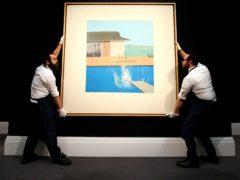 David Hockney's The Splash has sold for £23.1 million at auction (Jonathan Brady/PA)
