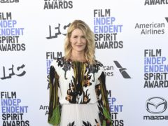 Laura Dern was celebrated by an LGBTQ choir during the 35th Film Independent Spirit Awards (Jordan Strauss/Invision/AP)