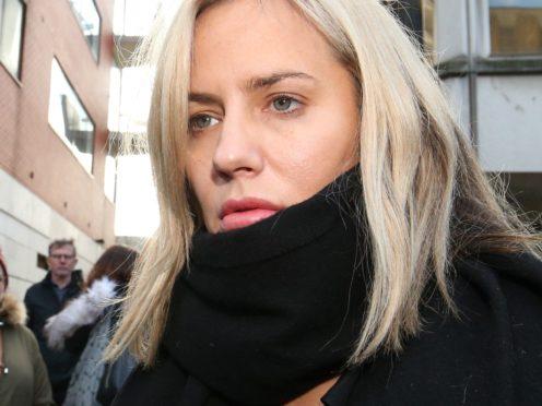 Caroline Flack leaves Highbury Corner Magistrates' Court (PA)
