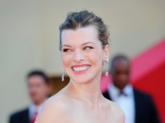 Milla Jovovich has had her third child (Fiona Hanson/PA)