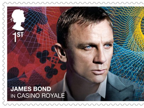 The Royal Mail is releasing a set of stamps commemorating James Bond ahead of the release of the new movie (Royal Mail/PA)