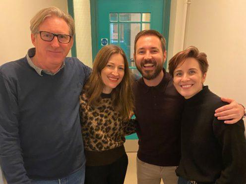 Adrian Dunbar, Kelly Macdnald, Martin Compston, Vicky McClure (BBC/World Productions/PA)
