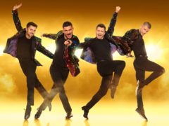 The Here Come The Boys tour starring Aljaz Skorjanec, Pasha Kovalev, Sam Salter and Michael Dameski (Here Come The Boys/Planet Earth/PA)
