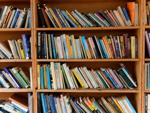 Stock picture of books on a shelf (Ryan Phillips/PA)